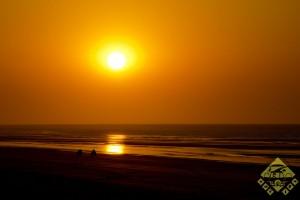 Mit dem Quad in den Sonnenuntergang