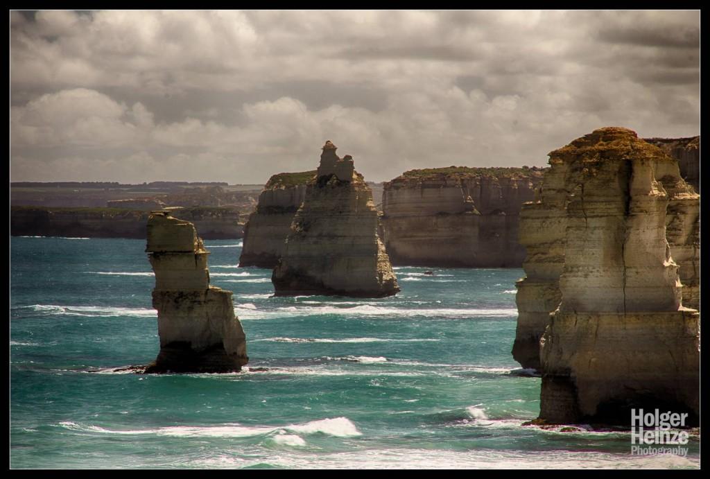 Sandsteinsäulen in der Meeresbrandung - 12 Apostel, Great Ocean Road