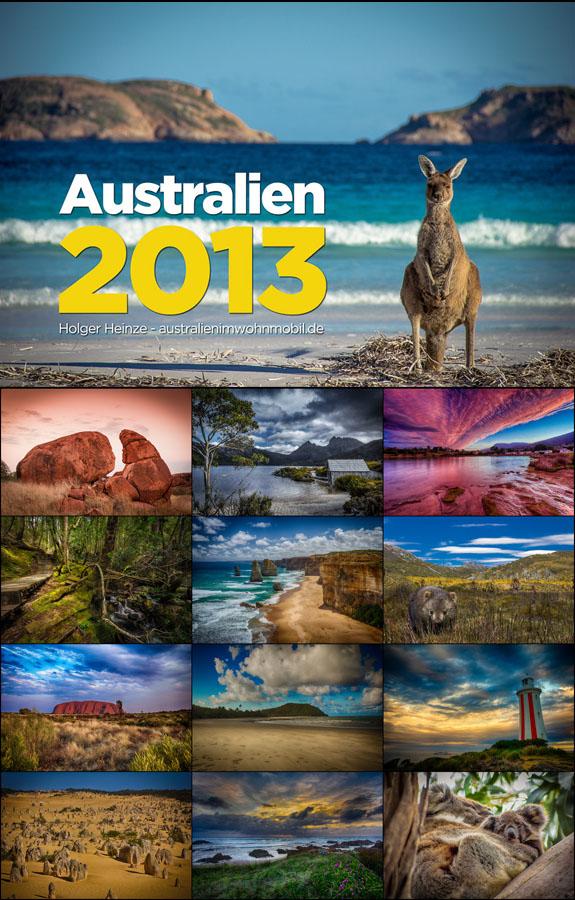 Der Australienimwohnmobil.de 2013 Australien Fotokalender